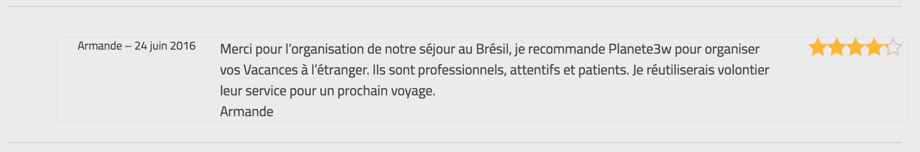 Avis Armande Bresil