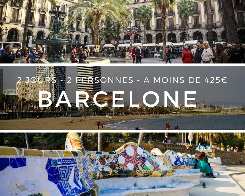 Barcelone 2j 2p 425 euros