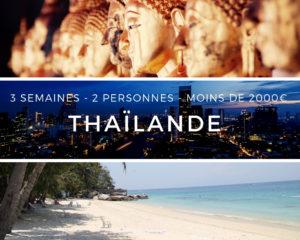 Thailande - 3 semaines - 2 personnes - 2000 euros