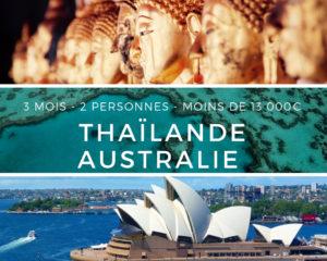 Voyage en Thailande road trip en Australie - 3 mois - 2 personnes